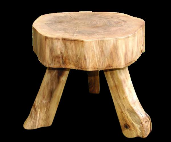 Natürliches aus Holz Baumscheibentisch aus Nussbaum