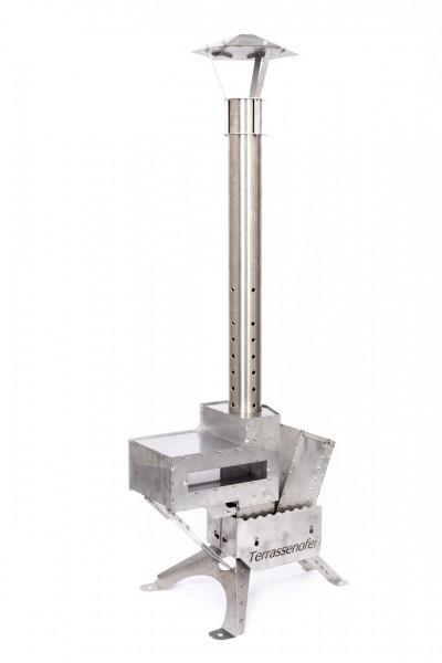 Thaller Terrassenofen D100 (Pellet) mit Grillaufsatz