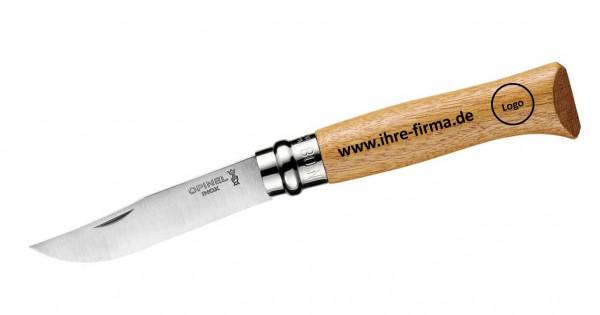 Opinel Messer Größe 8 Eiche personalisierte Laser-Gravur