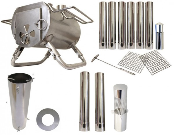 Gstove Heat Zeltofen Standard-Bundle - Ein tragbarer Ofen für Campingausflüge in der Wildnis inkl. nützlichem Zubehör