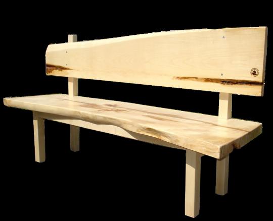 Natürliches aus Holz Hüttenbank Ahorn, klein